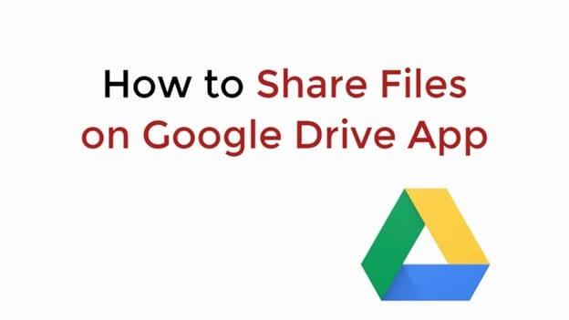 Dateien teilen google drive app