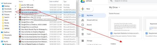appuyez sur nouveau et sélectionnez le téléchargement de fichier pour télécharger le dossier zip