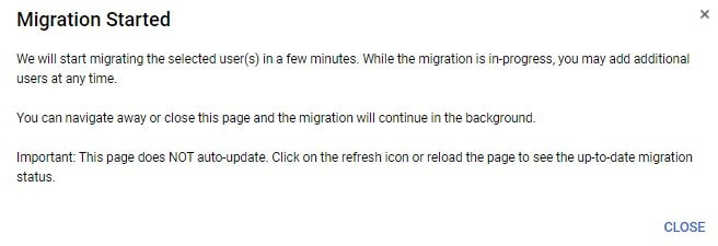 E-Mail-Migration g suite