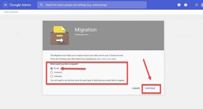 migrate godaddy email to g suite