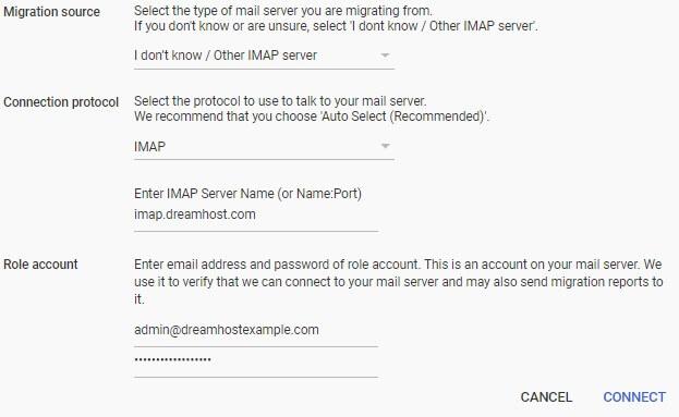 e-Mail in die g suite übertragen