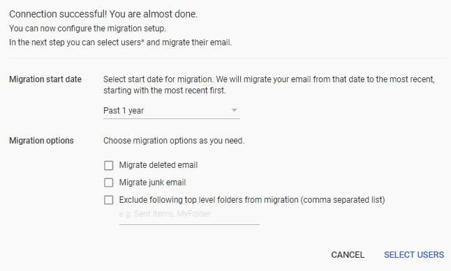 migrate email from godaddy to g suite