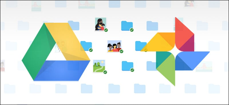 backup and sync allows you sync with google photos and google drive