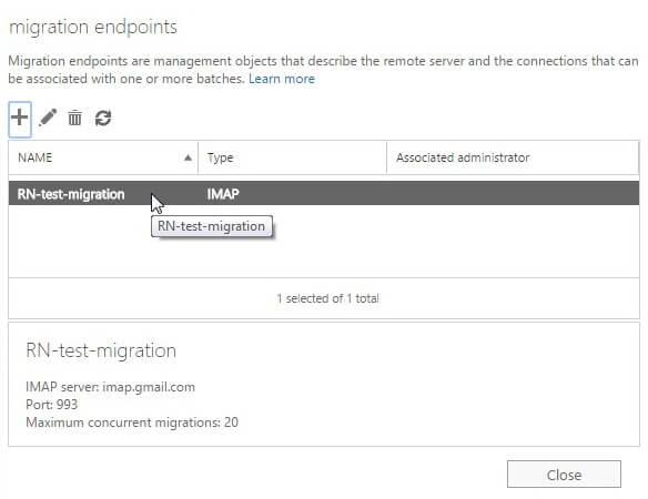 create a migration endpoint