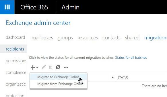 create a migration batch