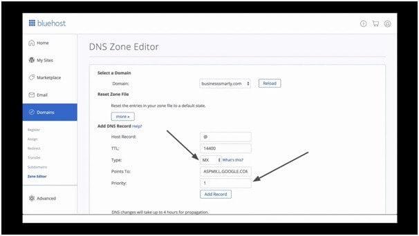 updating dns zone editor