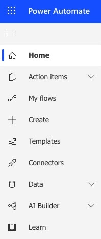 Create Flow with Power Automate