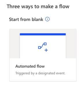 automatisierter flow wählen