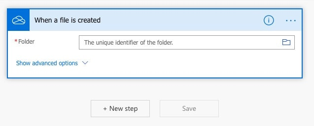 Selecting the folder to copy to Google Drive