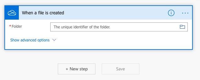 auswählen des fotoskopieren ordners auf google drive