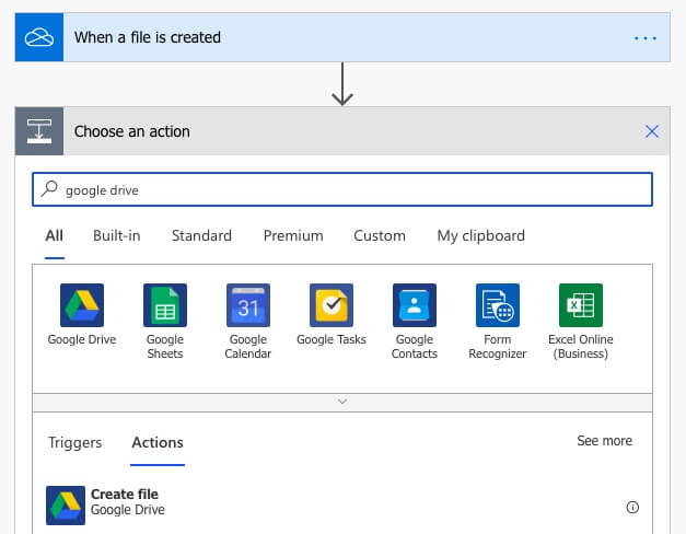 Include subfolders to copy to Google Drive