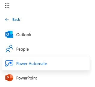 Power Automate app in Microsoft 365