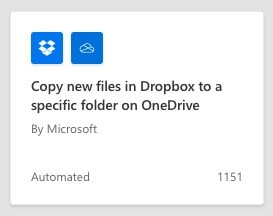 Sync Dropbox to OneDrive using Power Automate in Microsoft 365