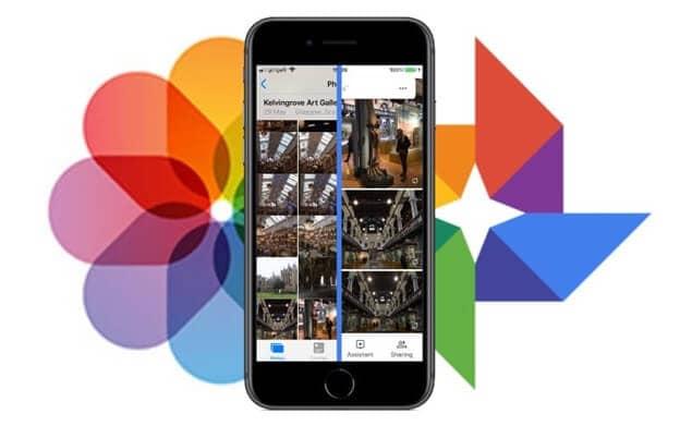 Transfer google photos iCloud