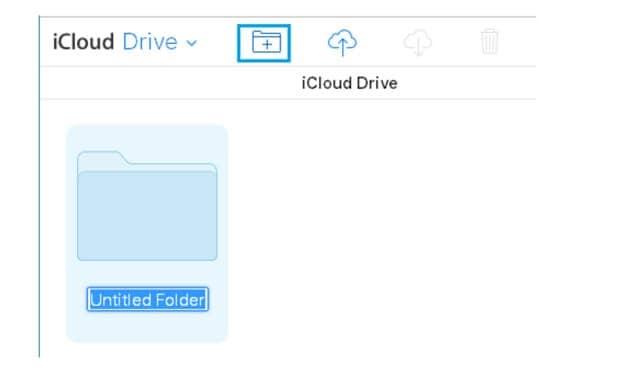Create folder iCloud drive