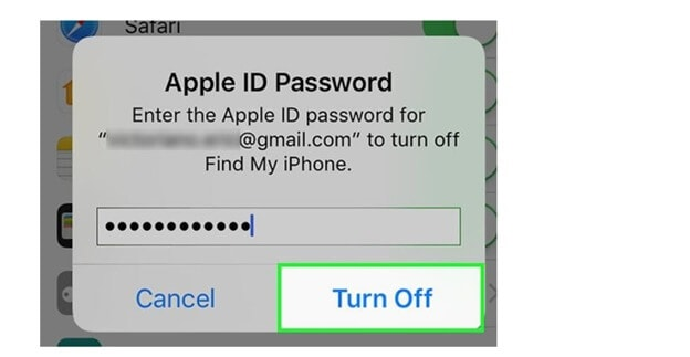 Turn off apple id