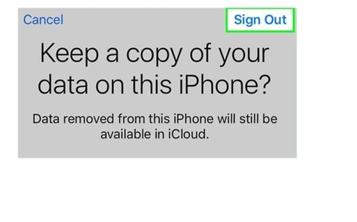 Keep data iPhone