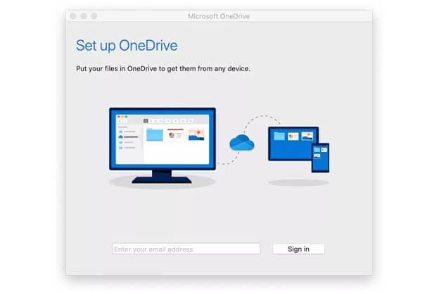 Add onedrive to mac