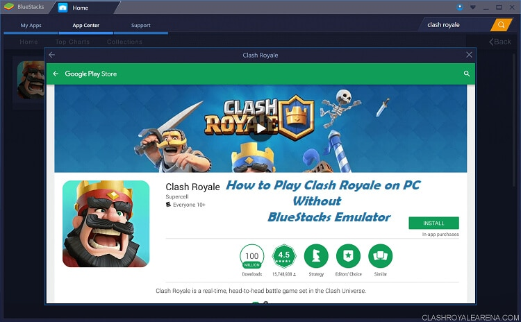 clash royale on pc 1