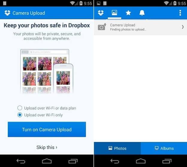 Dropbox camera upload