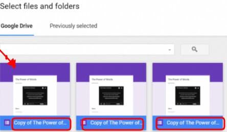 folder of same files