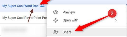 select share