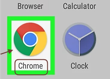 click on google chrome