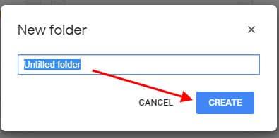 how to create folder name