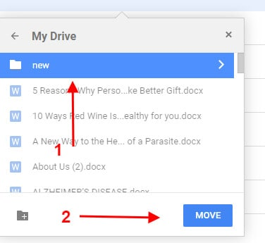 move files