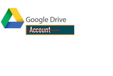 Delete drive account