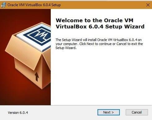 install virtual box
