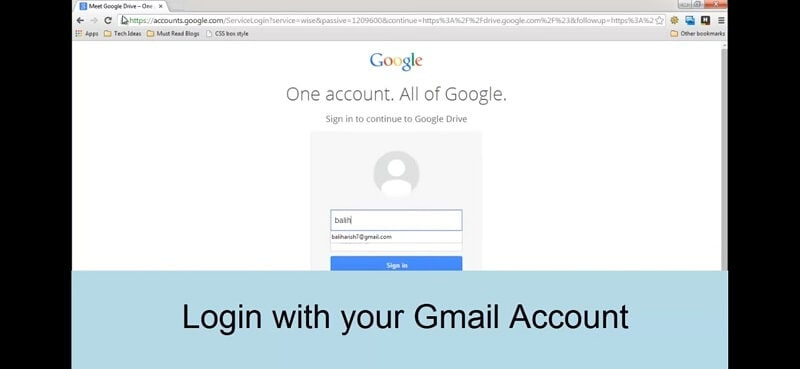 login in Gmail