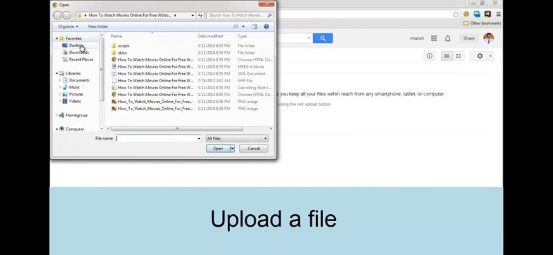 how to use google drive to share video