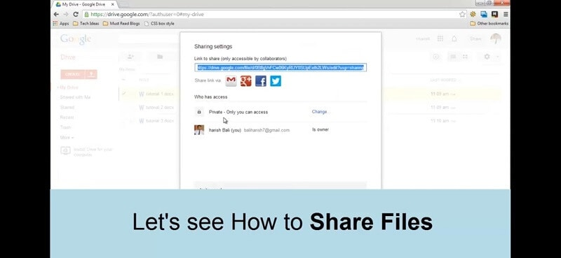 share video on google drive