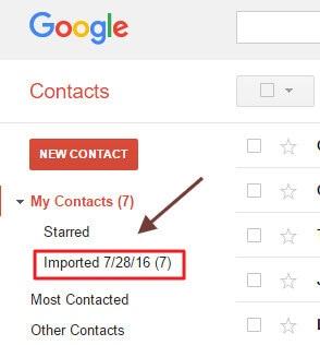 importa lista de contactos
