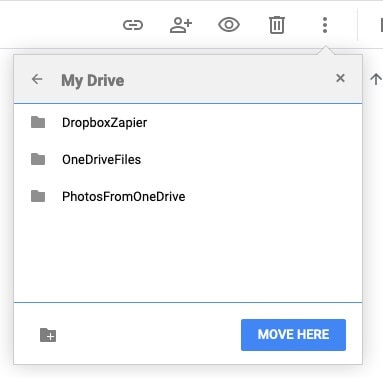 Move files within Google Drive