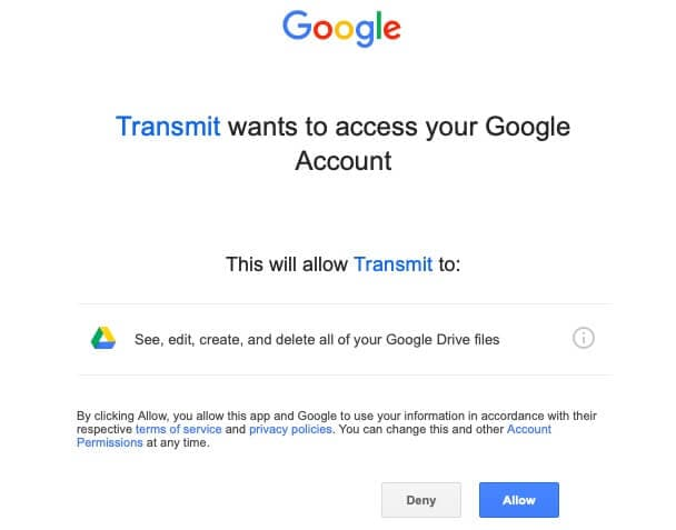 Using FTP to upload files to Google Drive