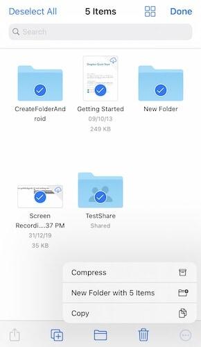 Dateien von Dropbox in Datei-App unter iOS kopieren
