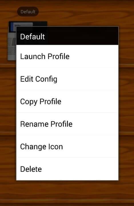 create a new game profile