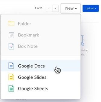 Box integration with Google G Suite