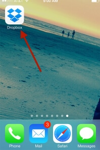 launch dropbox from the home screen