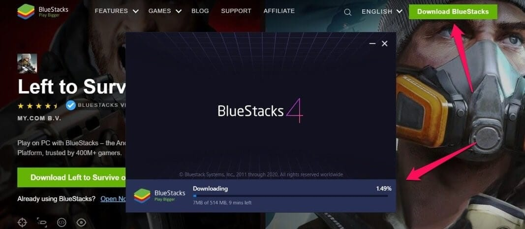 download and install bluestacks