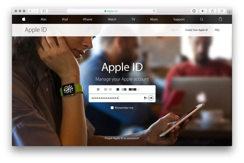 access apple id website
