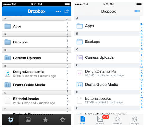 Synchronizing dropbox with iPhone