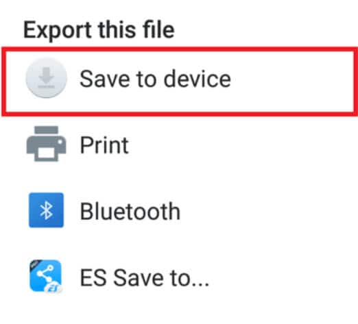 Save images to android device from dropbox