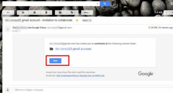 ejemplo del correo electrónico que te enviará google