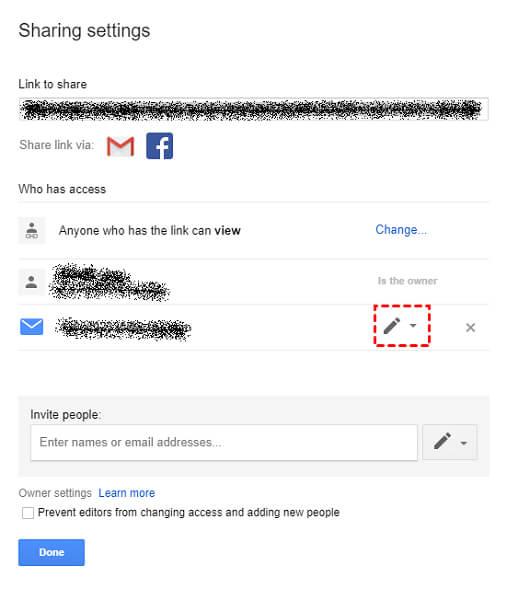 click on the down arrow