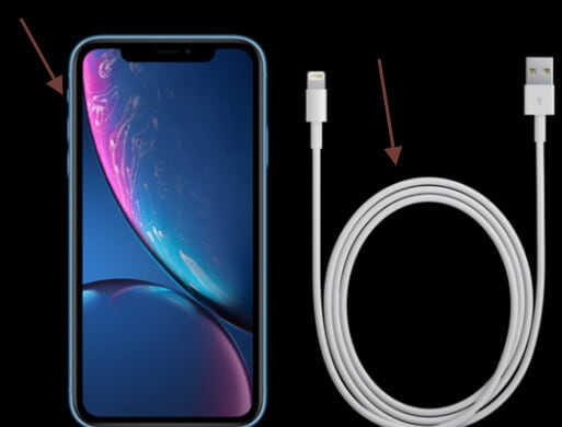 Figure 1 connect the phone with a USB