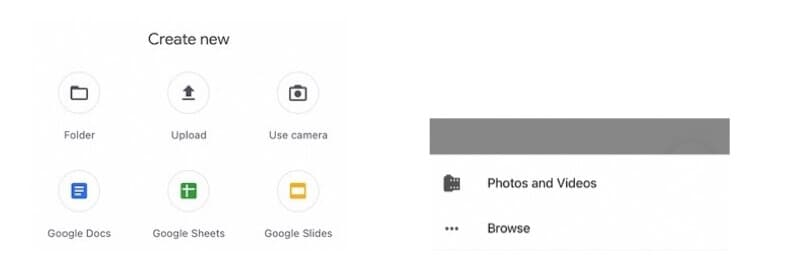 Access Internal Storage in Google Drive