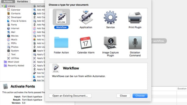 click on workflow and choose